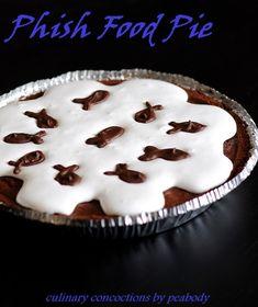 Chocolate Brownie Caramel-Marshmallow Pie aka Phish Food Pie