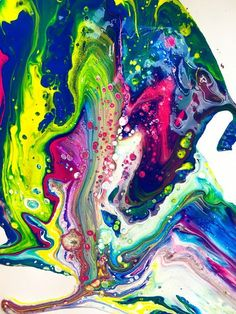 Fluid art is a VERY fun way to create abstract art mixed with science! We used TEMPERA paint that was watered down and mixe...
