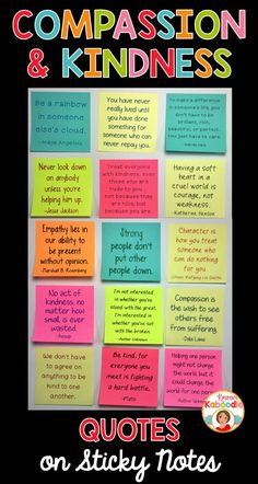 STICK IT AND MAKE IT STICK! Are you looking for unique ways to motivate students to be more kind and compassionate? These sticky notes quotes can be used as part of your growth mindset activities or your regular classroom routine. With teacher tips included, you'll find a variety of ways to utilize these positive messages for students!