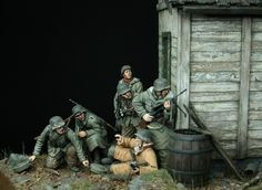 'Prey' by Johan Frohlin. WWII German military miniature soldiers diorama.