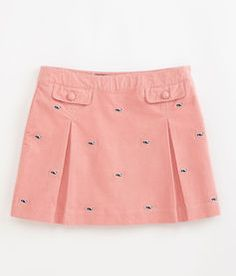 Girls Skirts: Embroidered Whale Cord Skirt for Girls – Vineyard Vines