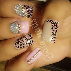 leopard cheetah pink rhinestones sparkle glitter