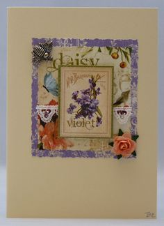Handmade Card - Roses and Bees £2.50