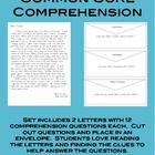 Set includes 2 letters with 12 comprehension questions each. Cut out questions and place in an envelope. Students love reading the letters and fi. Synonyms And Antonyms, Fact And Opinion, 2 Letter, Authors Purpose, Context Clues, Comprehension Questions, Test Prep, Love Reading, Envelope