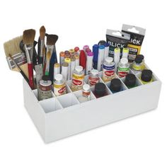 Shop ArtBin Paint Storage Tray at Blick. Acrylic Paint Storage, Craft Paint Storage, Paint Organization, Marker Storage, Art Studio Organization, Organization Ideas, Paint Supplies, Arts And Crafts Supplies, Artist Storage