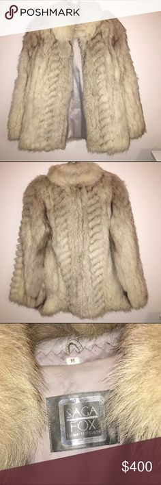 Real Silver Fox Fur Coat Great condition! Real silver fox fur coat. I could never wear animal fur that's why I am selling it. Perfect for winter!! Willing to negotiate price. Bloomingdale's Jackets & Coats
