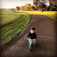 The balance bike adventure @amybish_pop testing out the new wheels. --- Kids   Outdoor activities   Parenting   Toys   Balance Bike   Y velo   Yvolution   Mother   Toddler