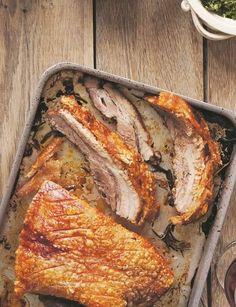 James Ramsden's Slow-roasted pork belly with salsa verde http://sainsburysmagazine.co.uk/recipes/mains/pork/item/slow-roasted-pork-belly-with-salsa-verde