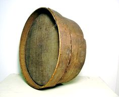 Antique Bentwood Sieve Wooden Sifter Horsehair by OceansideCastle, $84.00