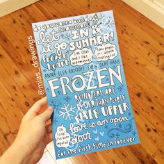 Frozen movie collage drawing  by Miasdrawings on Etsy, $6.00