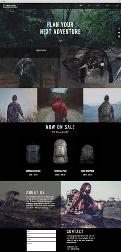 Outdoor Bags Website Template                                                                                                                                                                                 More