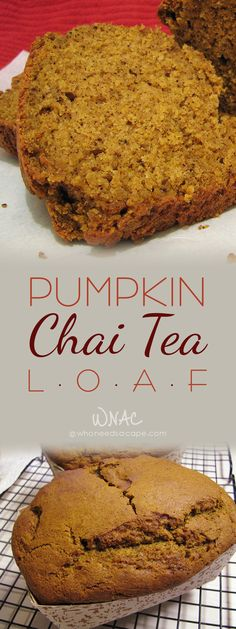 Pumpkin Chai Tea Loaf a perfect blend of flavors that smells amazing baking.