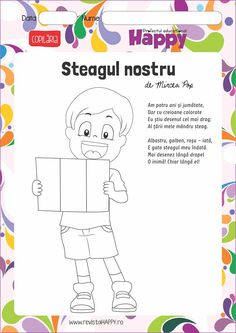 Preschool Writing, Kindergarten Activities, 1 Decembrie, Republica Moldova, Teacher Supplies, Kids Reading, Nursery Rhymes, Kids And Parenting, Coloring Pages