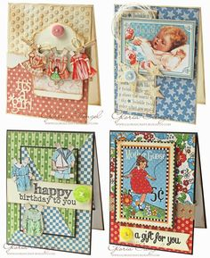 Graphic 45 Baby Card Class Tutorial                                                                                                                                                      More