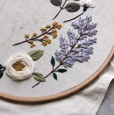 Etsy Embroidery, Floral Embroidery Patterns, Hand Embroidery Stitches, Embroidery Hoop Art, Cross Stitch Embroidery, Embroidery Designs, Lazy Daisy Stitch, Brazilian Embroidery, Couture