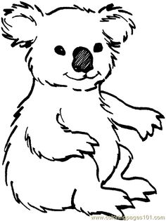 K Is For Koala Coloring Page zoo worksheets | Coloring Pages Zoo Animal Coloring Page 001 (39 ...