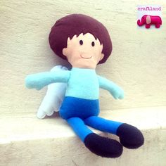 Dolls And Daydreams, Felt Angel, Fabric Dolls, Felt Crafts, Dinosaur Stuffed Animal, Toys, Pattern, Animals, Animales