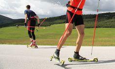 Roller skiing in summer = cross country skiing in winter Zlatibor