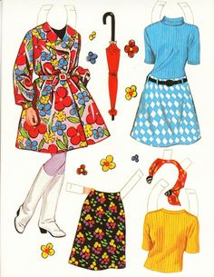 Mod Fashions: paperdolls