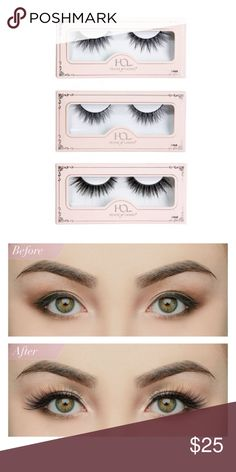 House of Lashes - Lite Collection This collection includes one (1) Iconic Lite, one (1) Boudoir Lite, and one (1) Noir Fairy Lite lash. Comes with lash glue and cute travel zipper pouch. All three packs are brand new and unopened. House of Lashes Makeup False Eyelashes