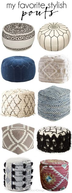 From My Home To Yours Poufs Poufs Spaces And Pillows Beauteous Urban Foundry Pouf