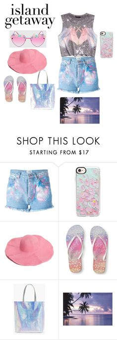 """""""Beachy look!!"""" by malaksweidan on Polyvore featuring Forever 21, Forte Couture, Casetify, Aéropostale and Boohoo"""