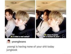 We have that one friend that ask dumb ass questions even when they can clearly see it I feel you Yoongi