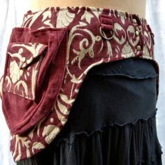 Hip loving pocket belt - fabric Burning Man utility belt - burgundy tapestry - size Large. $95.00, via Etsy.
