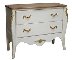 Channeling classic French design influences, this birch wood chest of two drawers is perfect for adding storage space to your bathroom or displaying the TV i. Wood Chest, Dresser As Nightstand, Chest Of Drawers, Pink And Gold, Art Deco, Interior Design, Storage, Vintage, Table