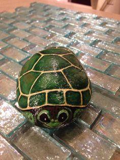 Painted rock turtle