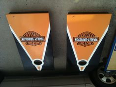 Harley Davidson corn hole boards my crafty kids could so do this !
