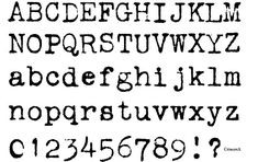 FZM OLD TYPEWRITER FONT FREE DOWNLOAD