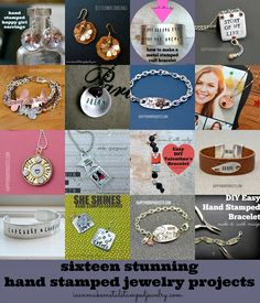 16 Stunning Hand Stamped Jewelry Projects round-up from icanmakemetalstampedjewelry.com!