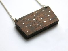 constellation necklaces made of wood & silver  by SylvanBijoux
