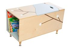 One Kings Lane - Clean Up Your Room! - Maude Toy Box, Blue