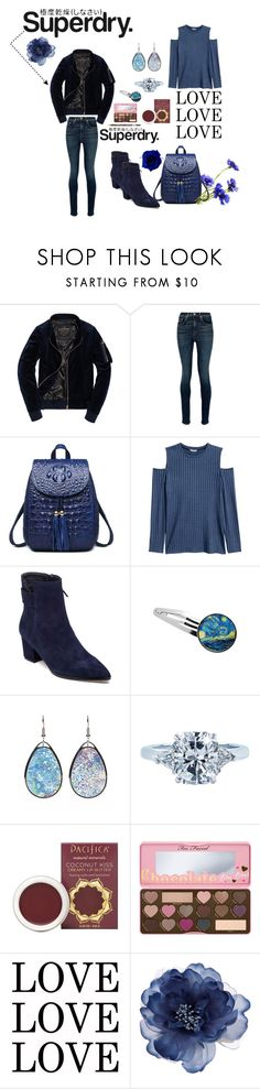 """The Cover Up – Jackets by Superdry: Contest Entry"" by michelle858 ❤ liked on Polyvore featuring Superdry, rag & bone, H&M, VANELi, Tiffany & Co., Pacifica, Too Faced Cosmetics and Accessorize"