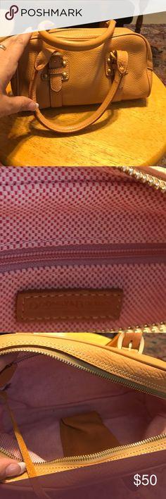 Dooney & Bourke mini satchel Adorable Dooney & Bourke mini satchel. Soft creamy leather. Dooney & Bourke Bags Satchels
