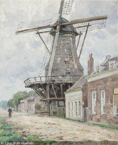 WYTSMAN Rodolphe Paul - Le moulin à vent au village