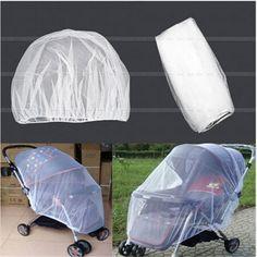 1Pcs White Infants Baby Stroller Pushchair Mosquito Insect Net Safe Mesh Buggy Crib Netting Cart Mosquito Net
