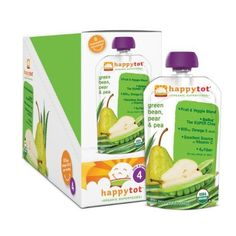 Happy Tot Organics Super Foods Pears, Peas   Green Beans  Super Chia, 4.22 oz (Pack of 8) Find out more about the great product at the image link.