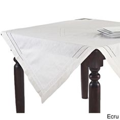 Hand Hemstitched and Embroidered Swiss Dot Tablecloth (65'x140' Rectangular, Beige) * Continue to the product at the image link. (This is an affiliate link) #HomeDecor