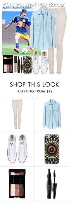 """""""Watching Zayn Play Soccer"""" by elise-22 ❤ liked on Polyvore featuring Topshop, Zara, Converse, DANNIJO, Stila, MAKE UP FOR EVER, OneDirection, 1d, zaynmalik and onedirectionoutfits"""