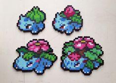 Bulbasaur | Ivysaur | Venasaur | Mega Venasaur | Pokemon perler beads by MIZGVUSdesigns