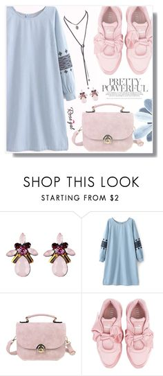 """Rosegal pastels #67"" by wannanna ❤ liked on Polyvore featuring Puma"