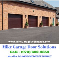 Mike Garage Door offer 24-HOUR EMERGENCY SERVICE! 24-Hours a day, 365-Days a year Contact us at (970) 682-3353 | www.MikeGarageDoorRepair.com