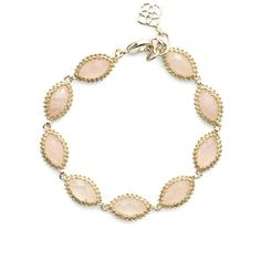 Kendra Scott 'Jana' Line Bracelet ($80) ❤ liked on Polyvore featuring jewelry, bracelets, kendra scott, 14 karat gold jewelry, 14k jewelry, kendra scott jewelry and 14k bangle