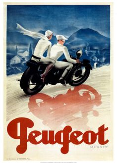 Peugeot. Motorcycle Poster