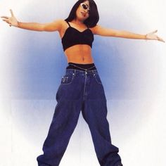 In my mind Aaliyah invented crop tops. I don't even care if that's not factually… In my mind Aaliyah invented crop tops. I don't even care if that's not factually or historically accurate. We truly (at least partly) owe today's most pro Hip Hop Fashion, Fashion Kids, Look Fashion, Fashion Outfits, Japan Fashion, India Fashion, Black 90s Fashion, Old School Fashion, Fashion Fashion
