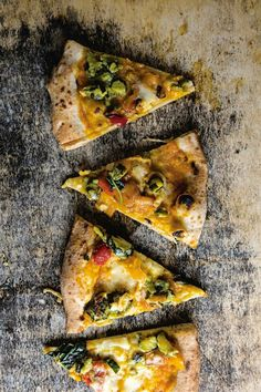 Butternut squash and smoked mozzarella pizza (Pizza del papa) from Saveur Magazine, May 2013