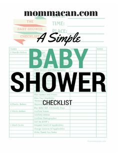 {Click Here for Your Free Printable Baby Shower Checklist} I was browsing the dollar bins at Target the other day and noticed the amazingly cute Baby Shower products, especially the ribbons and th…